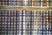 Tekstura japońskich shoji papieru drzwi przesuwne — Zdjęcie stockowe