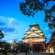 Osaka Castle in Osaka, Japan during a colorful pastel summer sun — Stock Photo #54016881