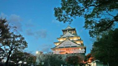 Osaka Castle in Osaka — Stock Video