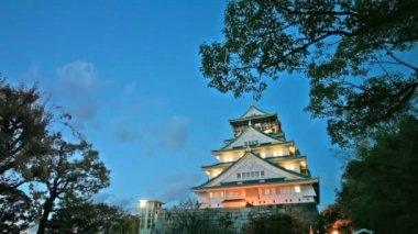 Osaka Castle in Osaka — Vídeo de stock