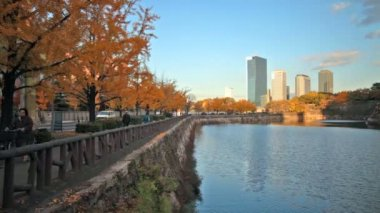 Osaka Castle in Osaka — Stockvideo