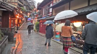 Kiyomizu-dera Temple Gate in Kyoto, Japan — Wideo stockowe