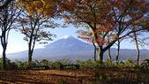 Mt. fuji avec des couleurs d'automne au japon — Photo