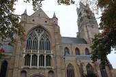St. Salvator's Cathedral, Bruges, Belgium. — ストック写真