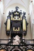 Organ av St Salvator Cathedral, Brygge, Belgien. — Stockfoto