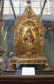 Interior of St. Salvator's Cathedral, Bruges, Belgium. — Stockfoto