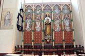 Interior of St. Salvator's Cathedral, Bruges, Belgium. — ストック写真