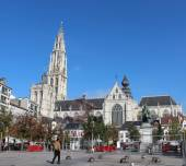 Cathedral of our Lady, Antwerpen, Belgium — Stock Photo
