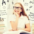 Student girl studying at school — Stock Photo #51975183