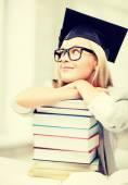 Student in graduation cap — Stock Photo