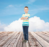 Little boy in casual clothes — Stock Photo