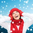 Smiling young woman in winter clothes — Stock Photo #52482191