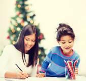 Anne ve kızı çizim — Stockfoto