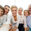 Happy family making selfie at home — Stock Photo #53556639