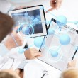 Group of doctors with tablet pc and clipboard — Stock Photo #53665855