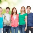 Group of smiling students standing — Stock Photo #53994449
