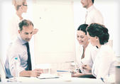 Business team discussing something in office — Stock Photo