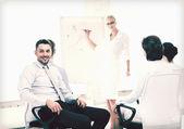 Geschäftsmann auf business-meeting im büro — Stockfoto