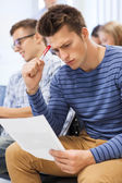 Group of students in classroom — Stock Photo