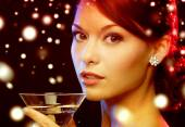 Woman with cocktail — Stock Photo