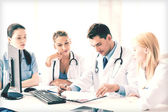 Team or group of doctors working — Stock Photo