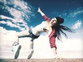 Krásná tanečnice v hnutí — Stock fotografie