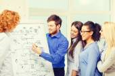 Ler företag team diskutera planen i office — Stockfoto