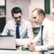 Two businessmen having discussion in office — Stock Photo #55786775