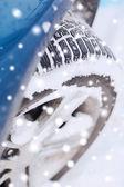Closeup of car wheel — Stock Photo