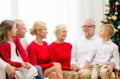 Smiling family at home — Stock Photo