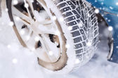 Closeup of car wheel — Stockfoto