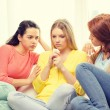 Two teenage girls comforting another after breakup — Stock Photo #57216889