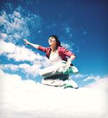 Krásné tanečnice, skákání — Stock fotografie