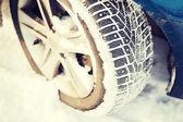 Closeup of car winter tire — Stock Photo