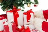 Close up of santa claus with presents — Foto de Stock
