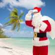 Man in costume of santa claus with bag — Stock Photo #57486717
