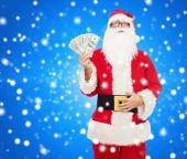 一元钱的圣诞老人服装的人 — 图库照片