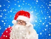 Close up of santa claus winking — Stock Photo