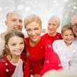 Smiling family making selfie at home — Stock Photo #58380033