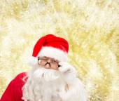 Close up of santa claus winking — Stock Photo