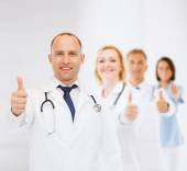 Smiling male doctor with stethoscope — Stock Photo