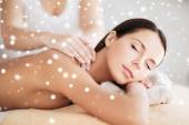 Beautiful young woman in spa — Stock Photo