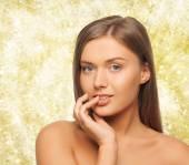 Beautiful young woman face — Stock Photo