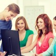 Group of smiling students having discussion — Stock Photo #59478605