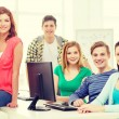 Group of smiling students having discussion — Stock Photo #59479113