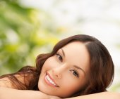 Beautiful young woman face — Stock Photo