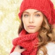 Close up of young woman in winter clothes — Stock Photo #59666195