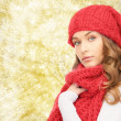 Young woman in winter clothes — Stock Photo #59666223