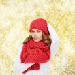 Young woman in winter clothes — Stock Photo #59666279