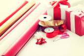 Close up of christmas presents — ストック写真